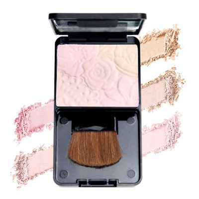Fine Exquisite Flower Model Multicolor Highlight Pressed Powder Skin Brighten Shading Powder Cosmetic Accessories