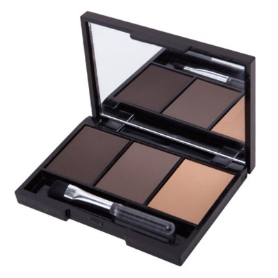 Delicate Fine Three Colors Brow Powder with Brush Mirror Enduring Easy Coloring Eyebrow Makeup Tool Accessories