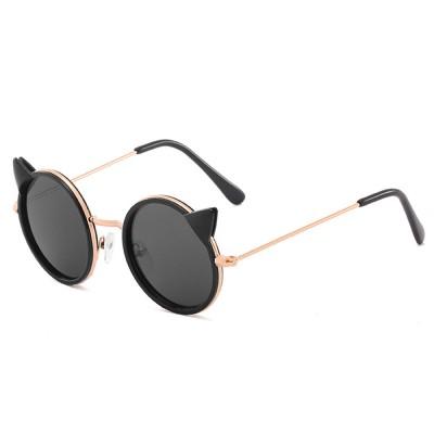 Cartoon Kitten Sunglasses for Children UV Protection Retro Sunglasses for Girls Boys