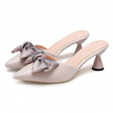 Bowknot High-heeled Sandals for Women Comfortable Breathable Non-slip Wear-resisting Wine Glass Shape High-heeled Slippers