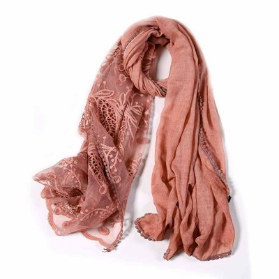 Women Lightweight Lace Shawl Scarf with Hem Lace for Lady Girl