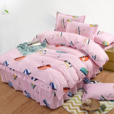 4pcs Bed Skirt Set, Single Bed Cover Double Bed Hat Bed Cover for 1.2/1.5/1.8m /2m Bed