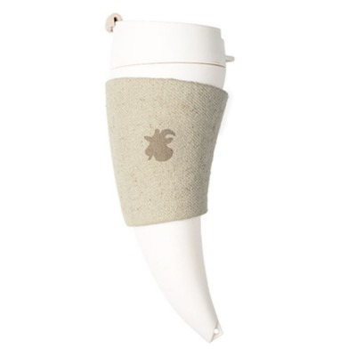 Stylish Creative Goat Claw Model Coffee Mug With Cover Leather Cup Cover Supporter Portable Outdoors Cup