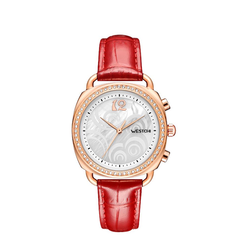 Fashionable Women's Wristwatch with Perfume Smell Screw-in Watch-head Wear Resistant Leather Miyota Quartz Watch