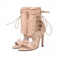 Large Strap Buckle High Heel Boots, Roman Style Fashionable Sexy Boots for Women