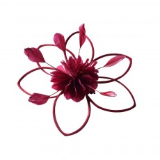 Flower Hairpin for Dinner and Annual Meeting Clip Design Western Style Feathers Decoration Plentiful Ultralight Hat