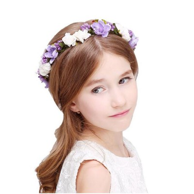 Elegant Fancy Artificial Flower Decorative Hair Band Bracelet Wedding Vacation Shooting Garland Hair Accessories Hand Chain