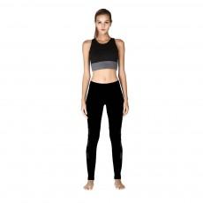 Minimalist Fashion Mesh Splicing Sport Pants for Ladies Breathable Slim Fit Yoga Dancing Exercise High Waist Pants