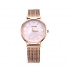 Elegant Quartz Women's Watch with Japan Miyota Movement & Mesh Bracelet Waterproof Mineral Tempered Looking Glass Wristwatch