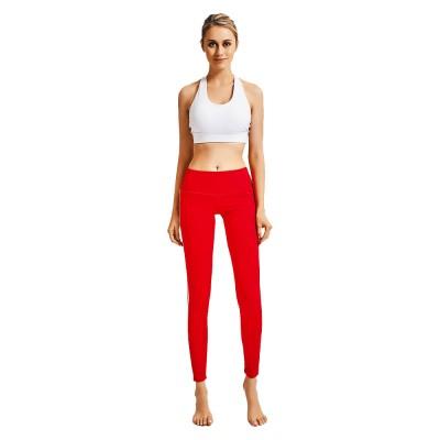 Stylish Minimalist Side White Stripes Decorative Long Sport Pants Lifting Butt Slim Fit Casual Yoga Dancing Pants for Ladies