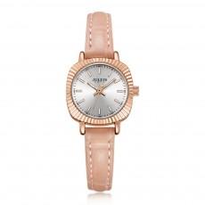 Glitter Dial Watch for Women Waterproof Bottom Cover Ultrafine Leather Strap Quartz watch