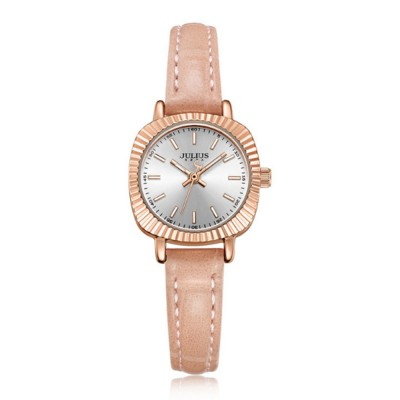 Glitter Dial Watch for Women Waterproof Bottom Cover Ultrafine Leather Strap Quartz watch