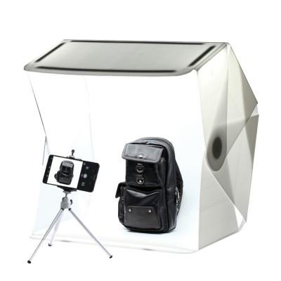 60CM Mini LED Photostudio for E-commerce Businessman Waterproof Foldable Picture Studio Fluorescent Lamp Plate Portable Photo Taking Studio Digital Imaging Box