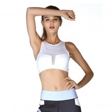Minimalist Sexy Mesh Splicing Lady Sports Bra Quick-dry Breathable Yoga Dancing Athletic Vest for Women