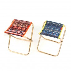 Outdoor Small Folding Chair Aluminium Alloy Folding Stool, Adult Mini Portable Chair for Barbecue or Fishing Train Stool