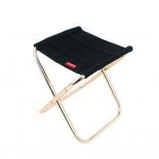 Outdoor Folding Chair, Aluminum Alloy Folding Stool for Fishing Barbecue Camping Portable Train Stool