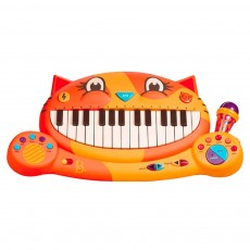 B.TOY Big Mouth Cat Piano Cartoon Early Teach Smart Electronic Piano for Infants and Young Children Music Toys