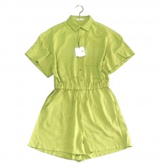 Casual One Piece Jumpsuit Pants High Waist Shorts Dress Pants Avocado Green