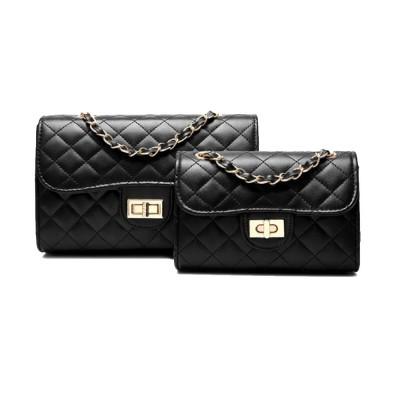 Fashion Small Fragrance PU Rhombic Chain Bag Women's Fashion Shoulder Bag