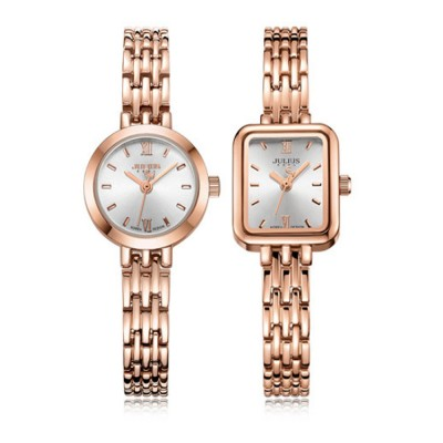 JULIUS Fashion Trend Simple Generous Classic Chain Lady's Watch Square Wristwatch for Girl Women