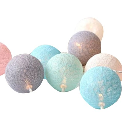 Decorative LED Cotton Ball Lamp String Children's Room Decorations Lights Lovely Fairy Lights Christmas Lights