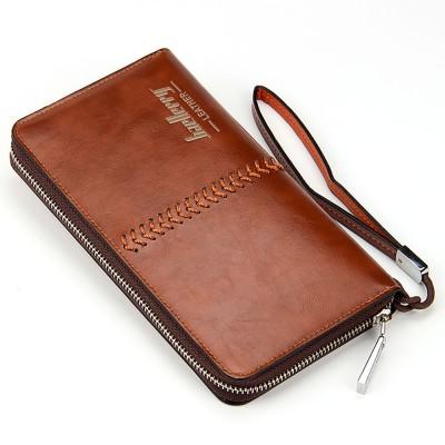 RFID Blocking Wallet Long Handbag Large Capacity PU Leather Clutch Bag Multi-Card Holder Organizer Phone Bag for Men