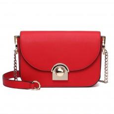 Smooth Scratching-poof PU Leather Women Shoulder Bag, Fashion Minimalist Casual Metal Shoulder Strap Magnet Buckle Bag