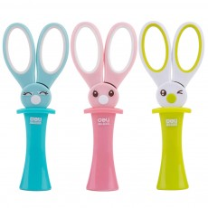 Student Scissor with Cute Rabbit Pattern Handwork Cutter with Magic Hat Shape Handle