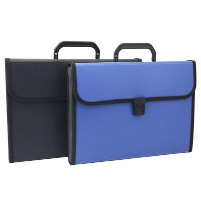 Portable Organ Shape File Folder with 13 Compartments Large Capacity Holder for Office School