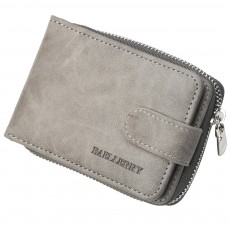 Men Stylish PU Wallet with Organ Shape Card Slot Large Capacity Card Bag with Smooth Zipper