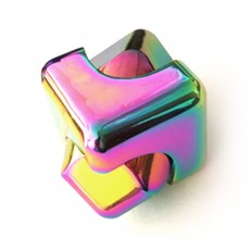 Small Delicate Colorful Laser Square Rubik's Cube Finger Spinner Fingers Coordination Training Fidget Toy Puzzle Game