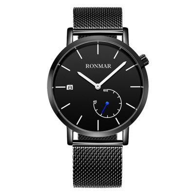 Stylish Minimalist Waterproof Men Quartz Wrist Watch Students Watch with Luminous Pointers Date Display
