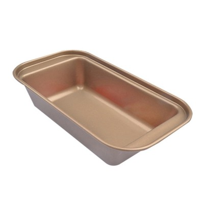 Golden Nonstick Steel Oven Baking Roasting Unique Tray Small Deep Narrow Loaf Pan Kitchen Bake Ware