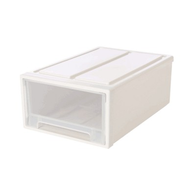 Plastic Drawer Storage Container, Storage Box, Combination Stackable Clothes Organizer, Transparent Clothing and Shoes Storage Cabinet