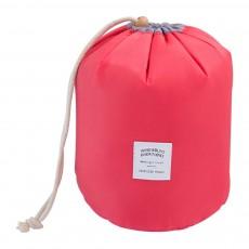 Cylinder Wash Make-up Bag, Large-capacity Girls Pull Rope Nylon Waterproof Travel Bag for Traveling Business Trip