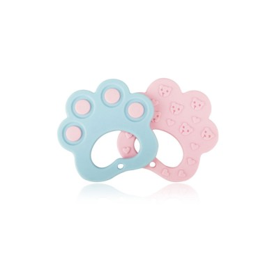 Dog Claw Silicone Baby Teether, Environmentally Safe Food Grade Silicone Chewing Toy for Infants, Soft Soothing Molar for Babies