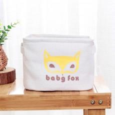Cotton Linen Storage Box, Wardrobe Small Coffee Table Toy Storage Basket, Simple Desktop Sundries Snack Storage Container
