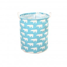 Laundry Organizer Cotton and Linen Washable Clothes or Toy Storage Basket, Storage Container, Waterproof Oversized Laundry Storage Bucket