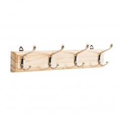 Wooden Rustic Wall Mounted Coat Storage Rack – Hanging Hooks for Jackets, Coats, Hats and Scarves