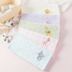 Cute Cartoon Baby Gauze Towel, Absorbent Cotton Baby Bath Towel, Soft Handkerchief Towel for infants, Face Washing Towel for Kids