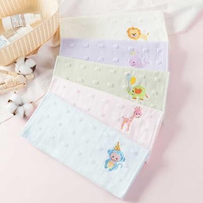 Cute Cartoon Baby Gauze Towel, Absorbent Cotton Baby Bath Towel, Soft Handkerchief Towel for infants, Face Washing Towel for Kids
