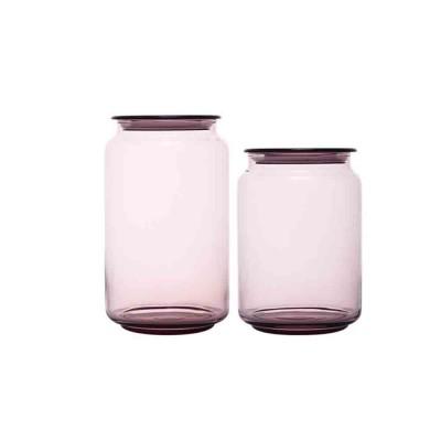 Airtight Glass Bottles Transparent Colorful Jars for Storage Tea, Dried Fruit Organizer, Universal Kitchen Storage