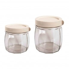 Prismatic Transparent Tea Canister Storage Canister, Hot Liquid Bottles, Storage Bottle with High-End PP Lid