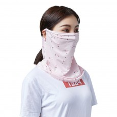 Anti-UV Ice Silk Face Mask for Women Wear in Spring Summer Ultraviolet Proof Cold Feeling Face Guard for Riding Outdoor