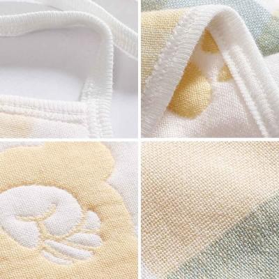 Cartoon Printing Cotton Gauze Baby Bib, Boys Girls Feeding Burp Cloths, Comfortable Newborn Infants Scarf Towel with Lace