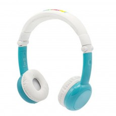 Portable Flexible Headphone Foldable Children Wired Headset Earphone with Healthy Allergy-Prevention Soft Earmuff Share Plugs