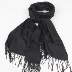 Minimalist Unisex Scarf Pure Color Comfortable Warm Ultra-smooth Imitate Cashmere Fringed Cape Wrap Shawl