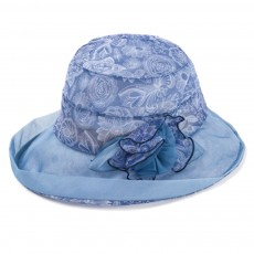 Foldable Bucket Hat for Outdoors Summer Travelling Beach Real Silk Sunscreen Bonnet All-match Windproof Large Brim Bucket Hat