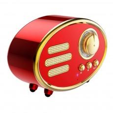 Retro Plastic Bluetooth Loudspeaker with FM Radio Receiver Portable Wireless Baffle Box Durable Mini Speaker Nice-looking Loudspeaker Box