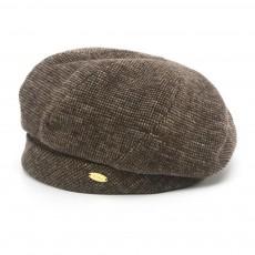 Retro Octagonal Beret for Travelling Breathable Woolen Pumpkin Hat Adjustable Head Circumference Top Hat Green Beret